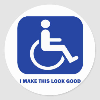 I make this look good classic round sticker