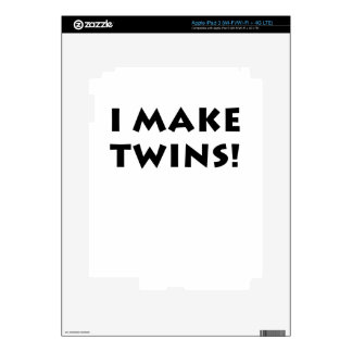 I Make Twins Decal For iPad 3
