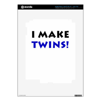 I Make Twins iPad 3 Decal