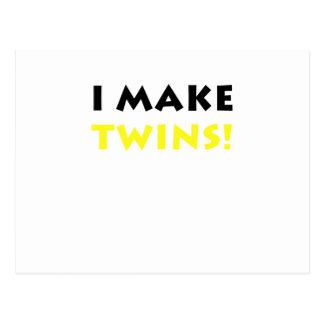I Make Twins Postcard
