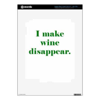 I Make Wine Disappear iPad 3 Skins