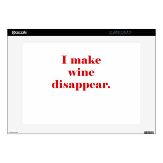"""I Make Wine Disappear Decals For 15"""" Laptops"""
