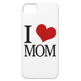 I mamá del corazón (mamá del amor de I) iPhone 5 Case-Mate Cárcasas