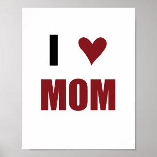 I mamá del corazón (tamaño estándar del marco) poster