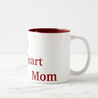 I   mamá    del corazón taza de dos tonos