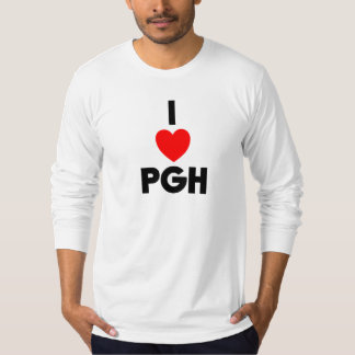 I manga larga del corazón PGH cabida Playera