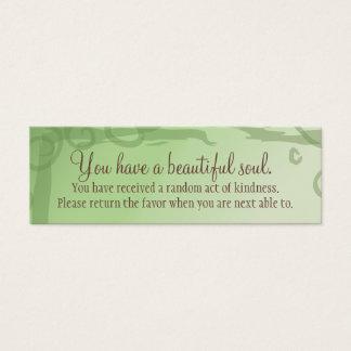 I Manifest Abundance By Being Grateful Affirmation Mini Business Card