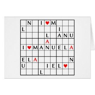 I♥MANUELA TARJETA DE FELICITACIÓN
