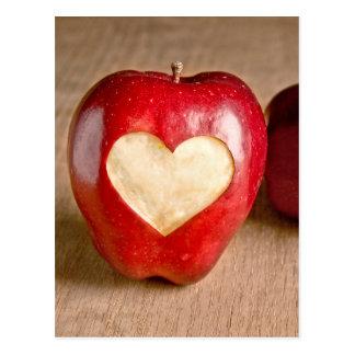 I manzanas del corazón tarjetas postales
