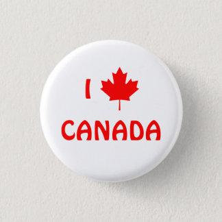 I Maple Leaf Canada Button