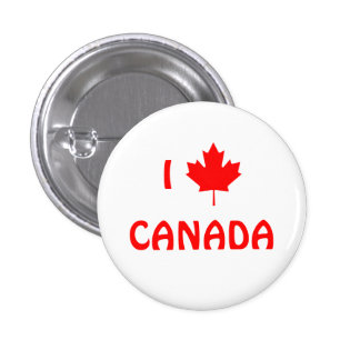 I Maple Leaf Canada Button