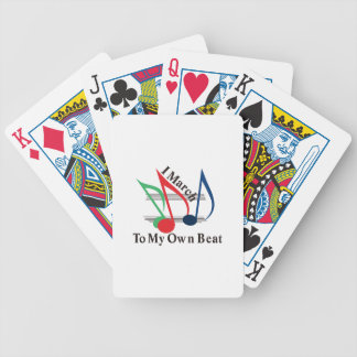 I March to My Own Beat Bicycle Playing Cards