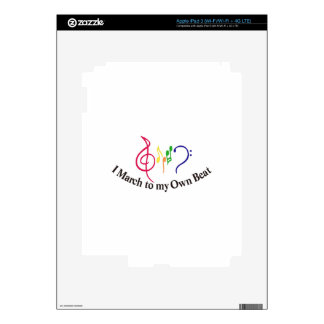 I March to My Own Beat Decal For iPad 3