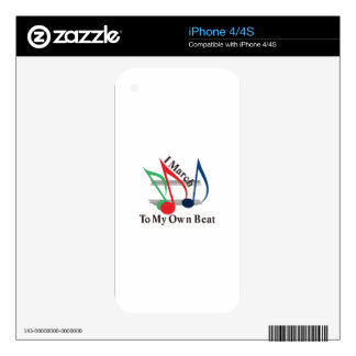 I March to My Own Beat iPhone 4S Skin