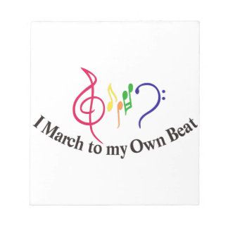 I March to My Own Beat Notepad