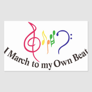 I March to My Own Beat Rectangular Sticker