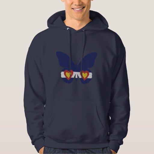 I mariposa de Colorado del corazón, camisetas de Suéter Con Capucha