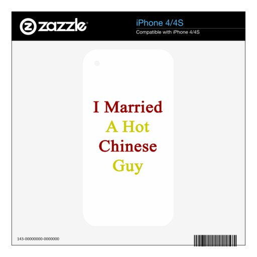 I Married A Hot Chinese Guy Decals For iPhone 4