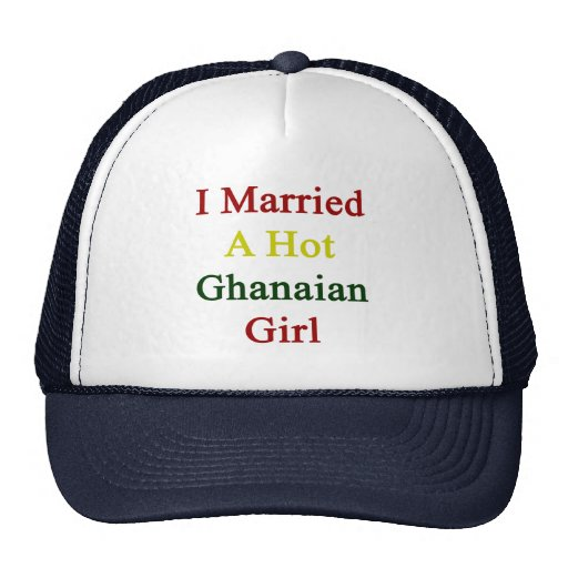I Married A Hot Ghanaian Girl Mesh Hat