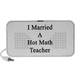I Married A Hot Math Teacher Mp3 Speakers