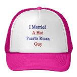 I Married A Hot Puerto Rican Guy Trucker Hat