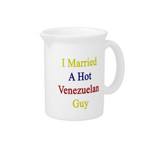 I Married A Hot Venezuelan Guy Beverage Pitcher