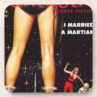 I married a martian beverage coaster