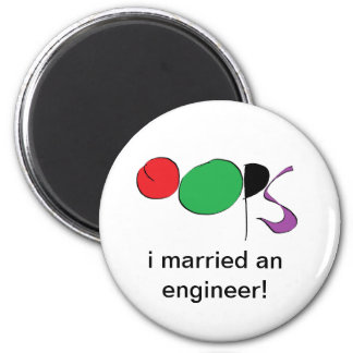 i married an engineer refrigerator magnet