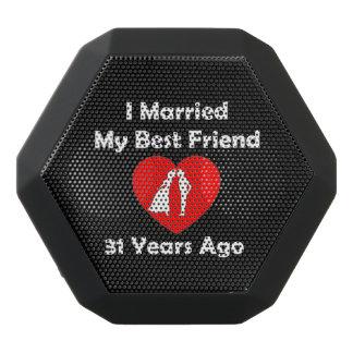 I Married My Best Friend 31 Years Ago Black Bluetooth Speaker