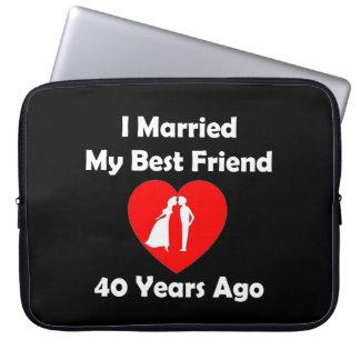 I Married My Best Friend 40 Years Ago Laptop Sleeves