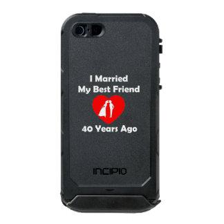 I Married My Best Friend 40 Years Ago Waterproof iPhone SE/5/5s Case