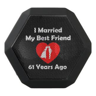 I Married My Best Friend 61 Years Ago Black Bluetooth Speaker
