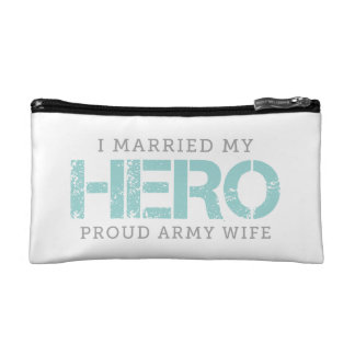 I Married My Hero - Army Wife Makeup Bag