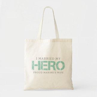 I Married My Hero - Marine's Wife Tote Bag