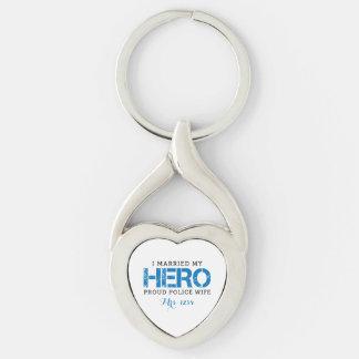 I Married My Hero - Police Wife Keychain