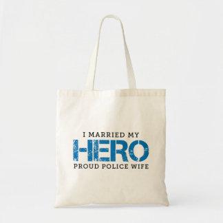 I Married My Hero - Police Wife Tote Bag