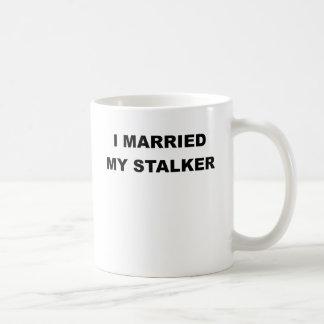 I MARRIED MY STALKER.png Classic White Coffee Mug