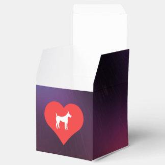 I mascotas del corazón cajas para regalos de boda