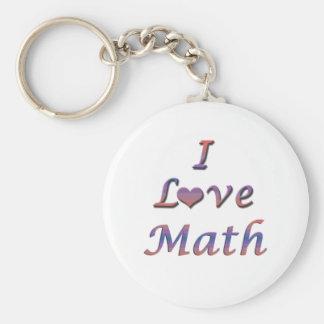 I matemáticas del corazón (amor) llavero redondo tipo pin