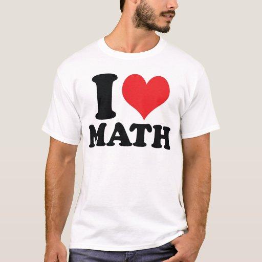 I matemáticas del corazón/del amor playera