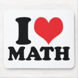 I matemáticas del corazón/del amor tapete de raton
