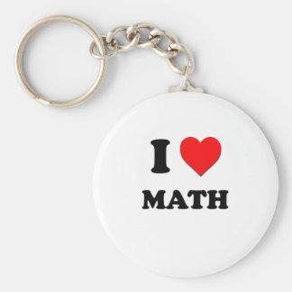I matemáticas del corazón llavero personalizado
