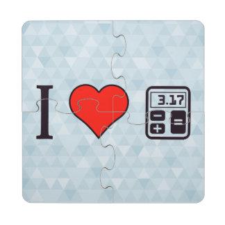 I matemáticas del corazón posavasos de puzzle