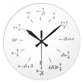 I matemáticas del corazón reloj redondo grande