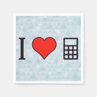 I matemáticas del corazón servilletas desechables