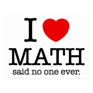 I matemáticas del corazón postales
