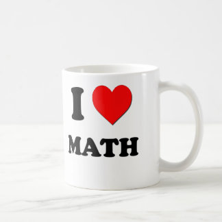 I matemáticas del corazón taza de café
