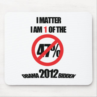 I matter, you matter, let everyone know it! mouse pad