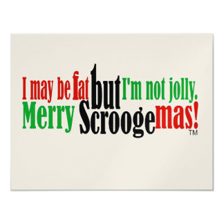 I May Be Fat But I'm Not Jolly Card