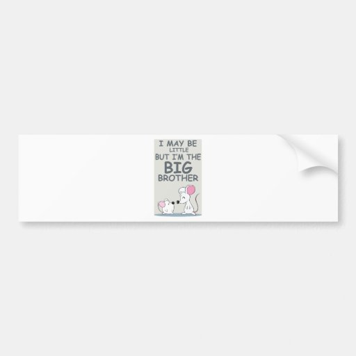 I may be little but I am the Big Brother Car Bumper Sticker